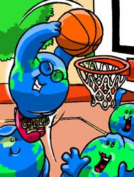 Wereldbol Basketbal