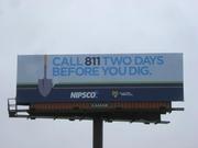 MWI Billboard campaign for NIPSCO, Indiana, USA