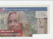 In de krant met mijn tv programma Arnhem spreekt.