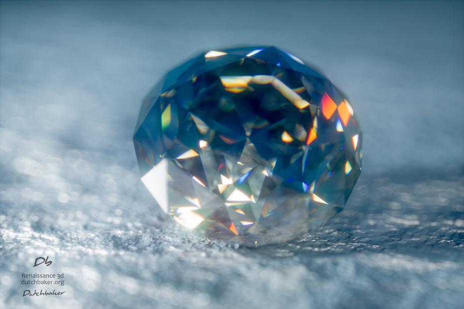 Dutchbaker Renaissance 3D - Brilliant Round Cut Blue