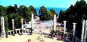 Морската градина - Колоните на входа  3