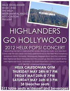 Highlanders Go Hollywood 2012 Helix POPS! Concert