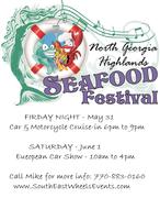 Seafood Festival Open Car Cruise In -Young Harris, GA