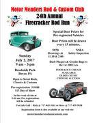 Motor Menders Rod & Custom Club    24th Annual Firecracker Rod Run