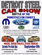 Detroit Steel Car Show Battle of the Domestics for Charity