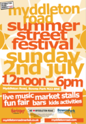 Myddleton Road Summer Street Festival! Sun 2nd July 12-6pm
