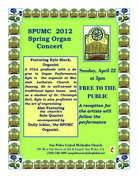 SPUMC Spring Organ Concert