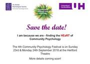 4th Annual BPS Community Psychology Festival