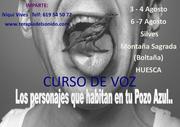 Curso de Voz, los personajes que habitan en tu Pozo Azul en Huesca