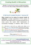 Creating Health in Wincanton - An Evening of information and Inspiration