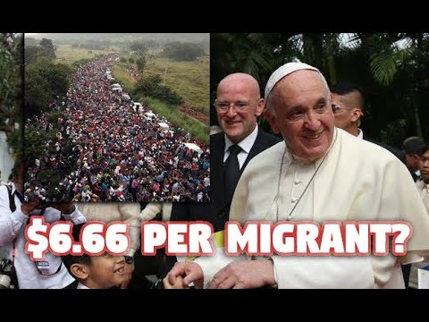 Pope Donates $6.66 In Aid To Border Caravan Migrants In Very Bizarre Math Sequence!