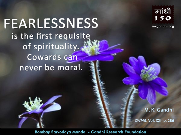 Thought For The Day ( FEARLESSNESS )