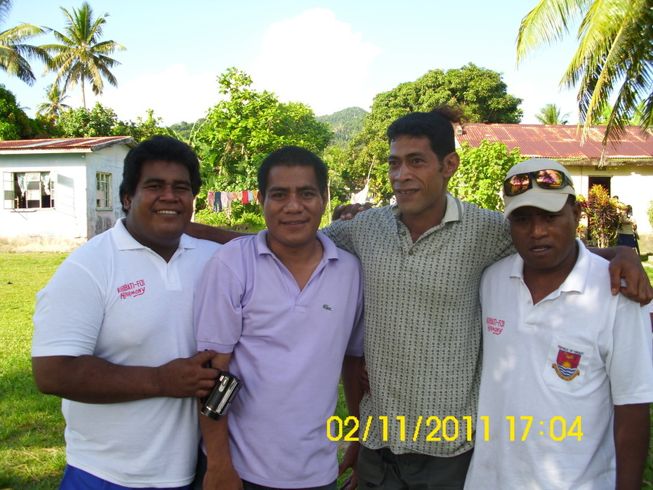 Aintoa Fiji Tour 2011..posing with Isaiah Nenem