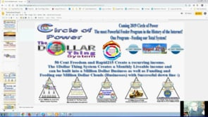 The 1Dollar Thing Funding and Feeding System by the Power Circle Team Webinar Replay 30th April 2019