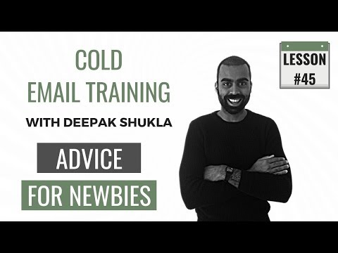 Advice For A Newbie In Cold Email | Cold Email Training Day 45 | Deepak Shukla