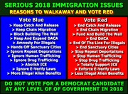 Blue Immigration Agenda vs Red Agenda