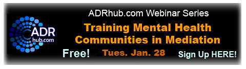 Webinar: Training Mental Health Communities in Mediation