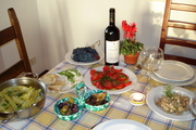 Our table in Tuscany