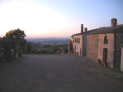 Le Chiuse at sunset