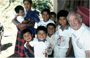 Hal with Mexican kids