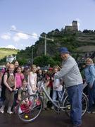 Hal on Rhine Ferry with kids 4