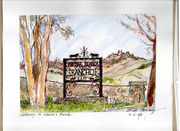 Hearst Ranch entrance (castle in background)