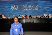 When i covering UN Climate change Conference at Qatar
