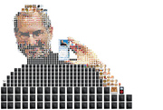 Steve Jobs made out of icons