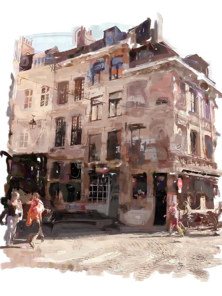 Shopping street Lille, France 2011