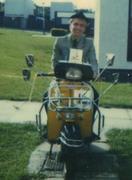me in 1982 on Vespa 150 Super