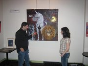 A photo from from a vernissage