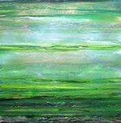 RedesdaleRhyhtms & textures Series  in Green 28x28 mixed media M Bell