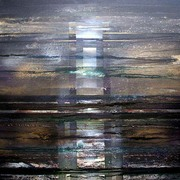 North Sea Oil Rig Ghost no 1[70x70cms]