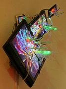 """Video Blossom[video sculptures] "" installation view, 2007"