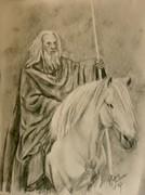 Gandalf with Shadowfax