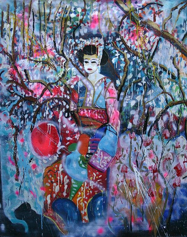 geisha in garden