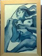 Reclining blue nude