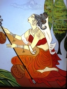 220-LADY WITH SITAR