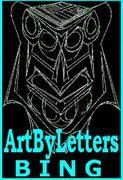 ArtByLetters Bing Logo light blue black small