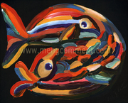 Pisces in love the Fishes by Meng Qiu