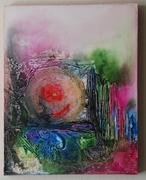 I open new doors to life, 11 by 14, Acrylic on canvas, 2008