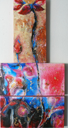 Om namah shivaya II, Acrylic on canvas,(Triptych) 2008