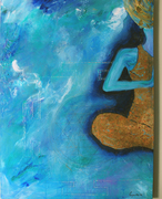 In process of enlightenment,30 by 40, Acrylic on canvas, 2008
