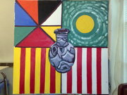 The Art of Still Life: Variation 27 (4 flags in 1 flag)