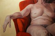 Woman in a Red Chair