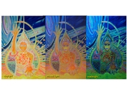 2011 M. in the Deep Heart you are the Creatrix, blacklight,canvas, 80x120 cm 1500 euro unframed