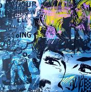 wonder girl  50cm x 50cm x3.5cm on canvas