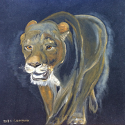 Oil paintings on velvet
