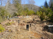 Looking upgrade Old Broad River cemetery