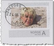Helpost med personlig frimerke